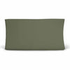 Solid Olive Knit Changing Pad Cover