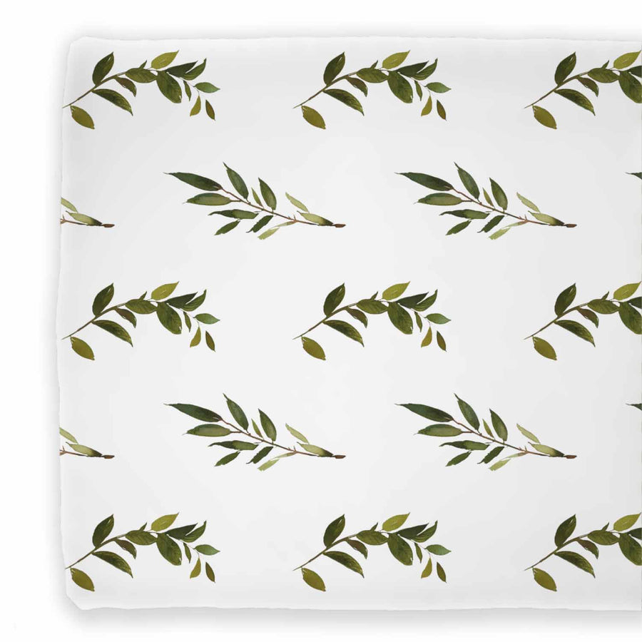 Green Olive Branch Changing Pad Cover