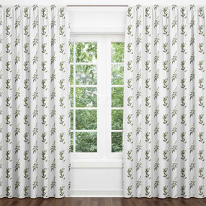 Olive Leaf Blackout Curtain Panels (Set of 2)