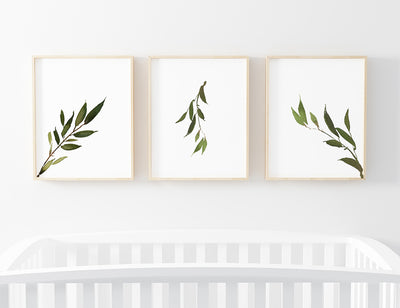 Olive Leaf Digital Nursery Art Print Group