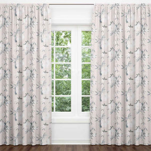 Paisley Blush Floral Blackout Curtain Panels (Set of 2)
