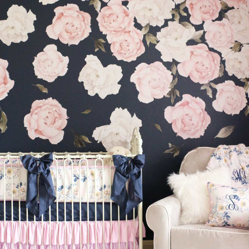 Large Peony Flower Wall Decals Caden Lane - Wall decals large