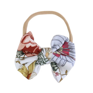 Peyton's Vintage Floral Knit Bow Headband