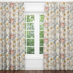 Peyton's Vintage Floral Blackout Curtain Panels (Set of 2)
