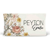 peyton's vintage floral soft knit personalized changing pad cover