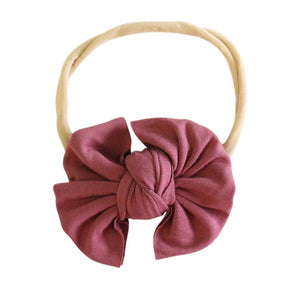 pomegranate bow headband newborn