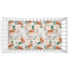 Posey's Earth Tone Floral Crib Sheet in Neutral Colors