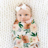 Posey's Earth Tone Floral Newborn Swaddle