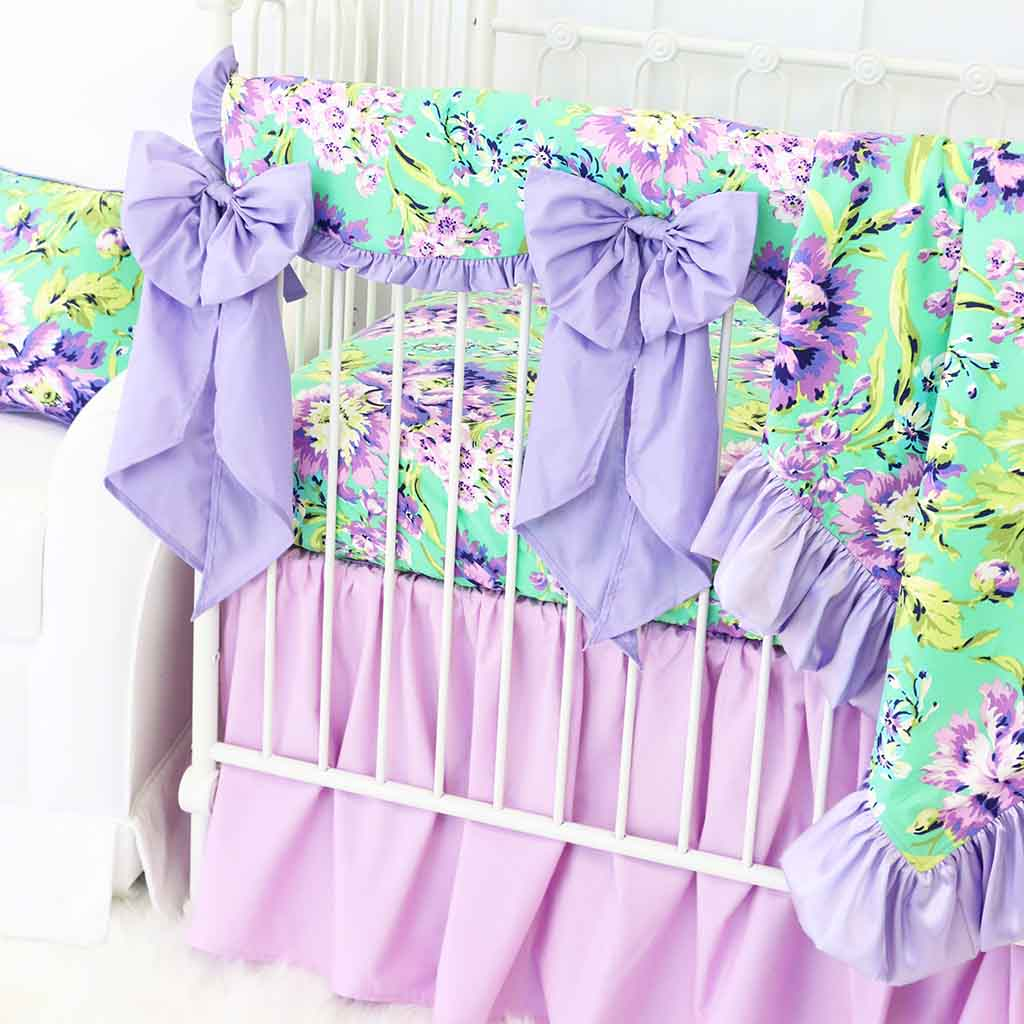 Purple Paige Lilac Gathered Bedding Collection