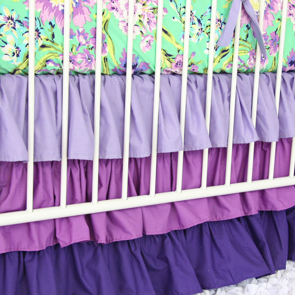 purple crib bedding