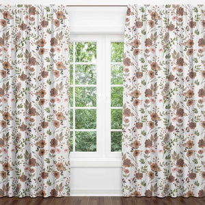 quinn's rust floral blackout curtains
