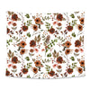 Quinn's Rust Floral Printed Wall Tapestry