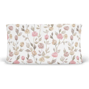 remi's rose vines soft knit changing pad cover