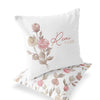 remi's rose vines personalized throw pillow