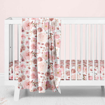 mauve and dusty pink nursery design