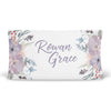Rowan's Dusty Purple Bouquet Personalized Fitted Changing Pad Cover