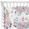 Rowan's Dusty Purple Bouquet Crib Bedding