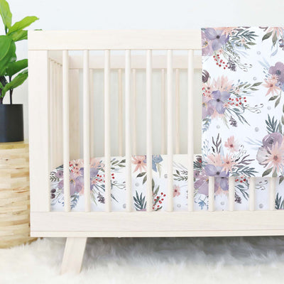 rowans dusty purple crib bedding