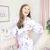Maternity Delivery Robe worn post-partum