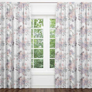 Rowan's Purple Floral Blackout Curtain Panels (Set of 2)