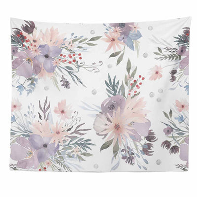 Rowan's Purple Floral Wall Tapestry