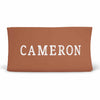 Personalized Rust Color Jersey Knit Changing Table Cover with Block Print