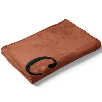 Folded Rust Color Story Personalized Name Soft Fleece Toddler Throw Blanket