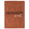 Rust Color Story Personalized Name Soft Fleece Toddler Throw Blanket