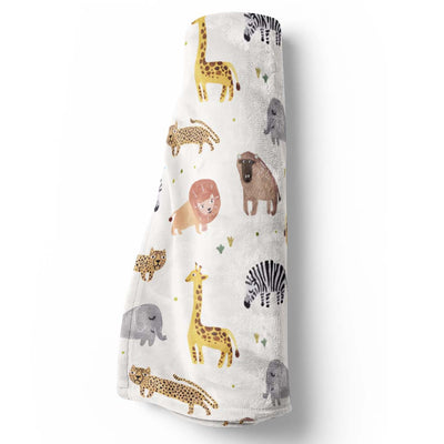 safari party soft minky baby stroller toddler throw blanket