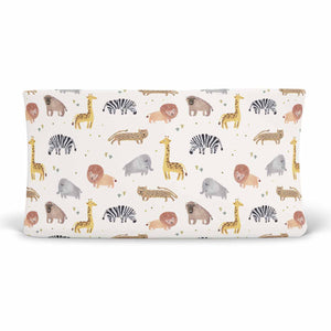 safari party animals soft stretchy knit changing pad cover
