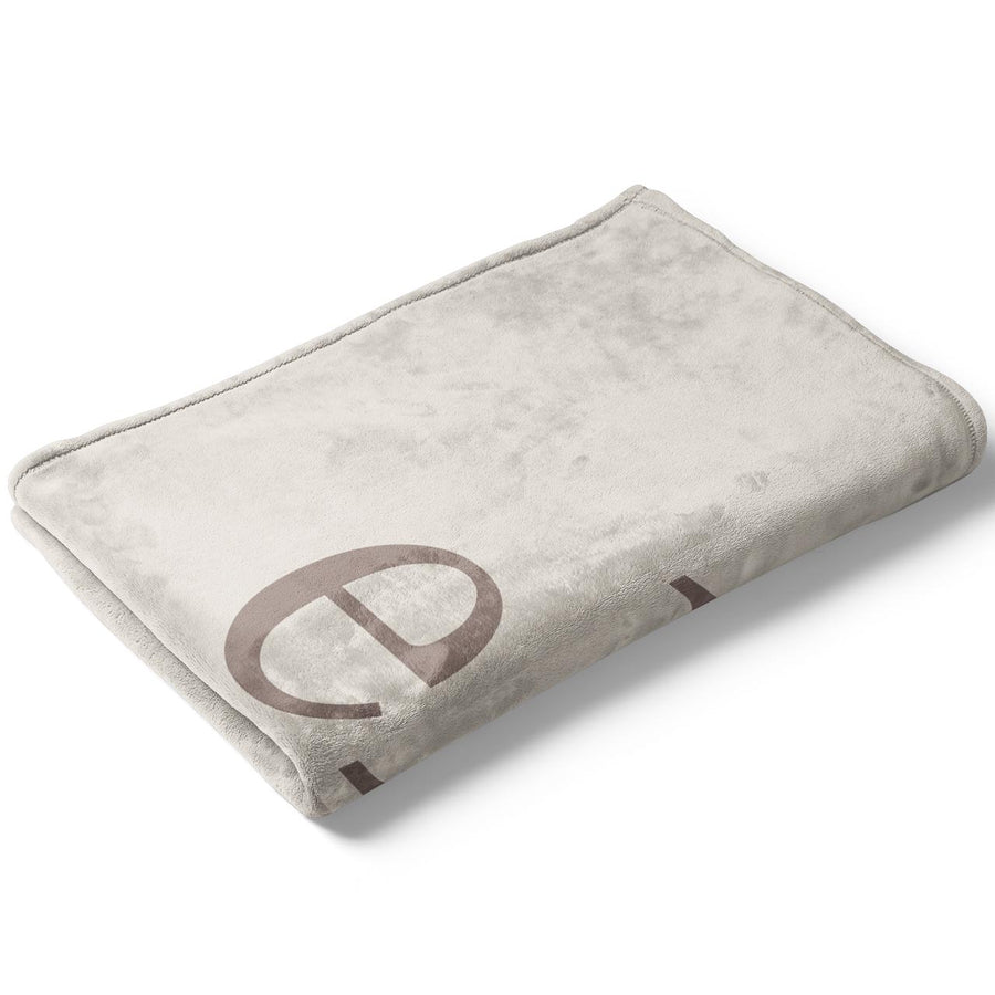 Sand Light Taupe Color Story Personalized Name Soft Fleece Toddler Throw Blanket