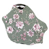 saylor's sage and blush floral soft stretchy knit multi-use car seat cover