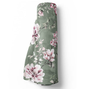 saylor's sage and blush soft minky baby stroller toddler throw blanket