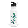 blue and green personalized water bottle