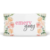 Secret Garden Peach Watercolor Floral Personalized Fitted Changing Pad Cover
