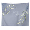 Skye's Dusty Blue Leaves Personalized Wall Tapestry