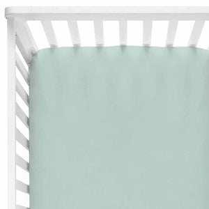 solid sage crib sheet bamboo