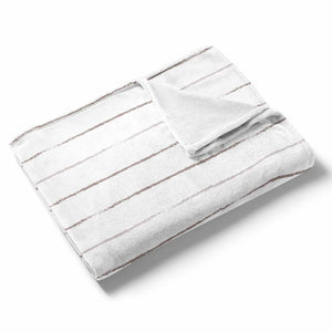 Stone Stripe Fleece Toddler Throw Blanket