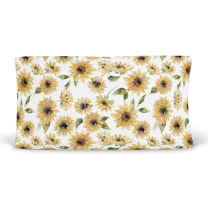 sunflower changing pad cover