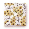 sunflowoer personalized newborn swaddle
