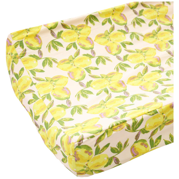 Sweet lemon cotton contoured changing pad cover