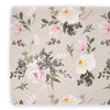 Tatum's Taupe Pink and Ivory Floral Changing Pad Cover