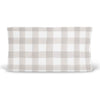 Talon's Gray Plaid Baby Bedding