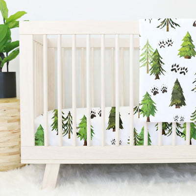 Woodland Trees Crib Bedding Set