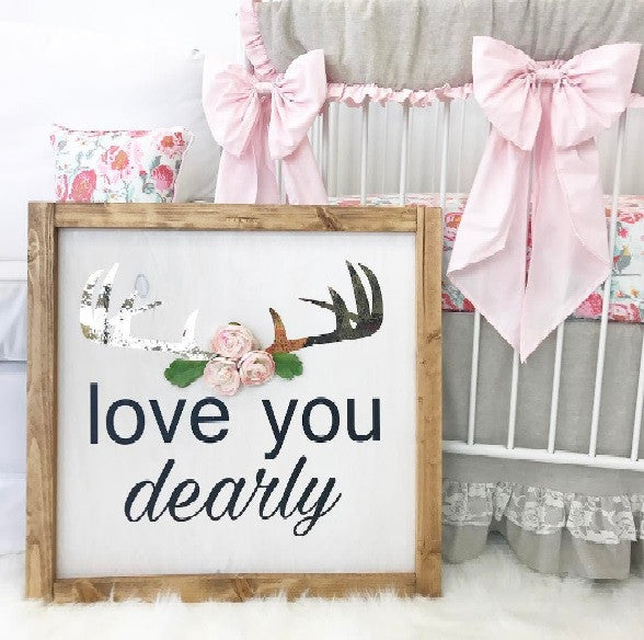 Love You Dearly Rustic Vinyl Decal