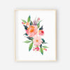 colorful watercolor floral nursery art print