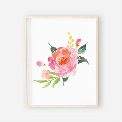 watercolor floral colorful flower art