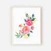 printable watercolor floral nursery art