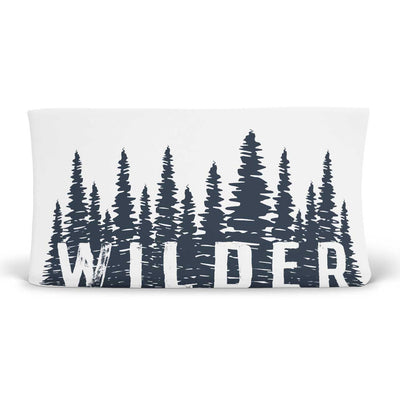 Wilder's Woodland Forest Trees Personalized Changing Pad Cover