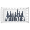 Wilder's Woodland Forest Trees Personalized Crib Sheet